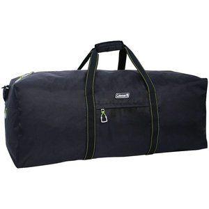 "Coleman 32"" Flex Duffel Backpack Bag Black/Green"